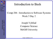 COMP 206 Lecture Week 3 Day 2 - Bash