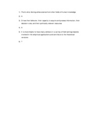 Policy theory answers