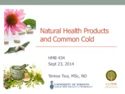 Lecture- Natural Health Products