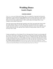 Wedding Danc1 Weddingdance Amadordaguio Synopsis Summary Onthe