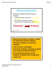 File 2 Balancing Chemical Equations