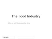 2. The Food Industry