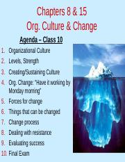 MGHB02 Class 10 - Org Culture & Change Slides.ppt