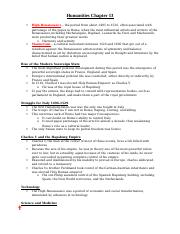 Humanities Chapter 13 Notes