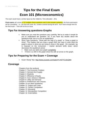 Tips for the Final 101 Exam