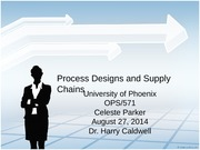 OPS571 WK 2 Process Designs and Supply Chains