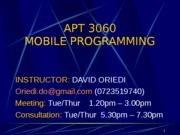 Week 1_Introduction to Mobile Computing