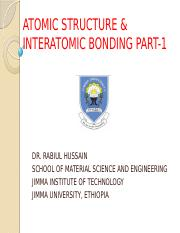 ATOMIC STRUCTURE & INTERATOMIC BONDING.pptx
