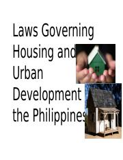 11 Laws Governing Housing and Urban Development (part 1).pptx