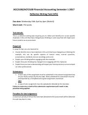 ACC-ACF2100 Reflective Writing Task