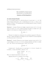 MATH 2403 Cauchy Integral Notes