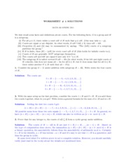 MATH 435 Worksheet 4 Solutions