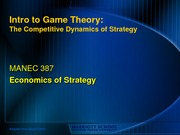 Dynamics of Strategy