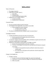 Ag Econ - Lecture 3