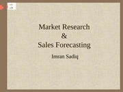 Marketing_Research_and_Sales_Forecasting