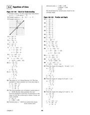 Pre-Calculus Homework Solutions 62