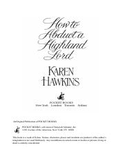 Karen Hawkins - Maclean Curse 01 - How to Abduct a Highland Lord