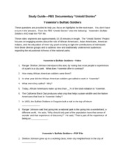 Study Guide Yosemite Buffalo Soldiers