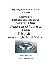 Physics Cover Sheet (Autosaved)