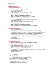 Credit Analysis Solution Class Note 2014 For FNCE 3P93