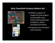 MODERNISM TO POST-MODERNISM