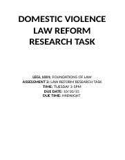 Law Reform Report - Domestic Violence.docx