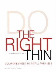 pmnetwork200711 - Do the Right Thing