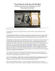 removing 5 dollar bill economist study pdf