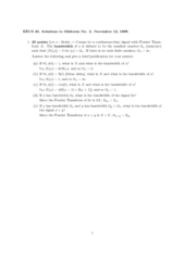 Electrical Engineering 20N - Fall 1999 - Midterm 2