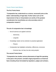 Trento Thesis 1 and2 Notes