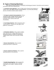 Lesson II-Types of Sewing Machines.docx