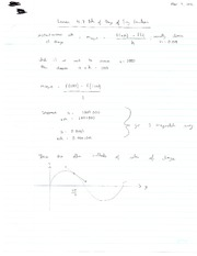 Rate of Change of Trig Functions Note