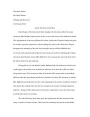 Literary Analysis - Story of an Hour.docx