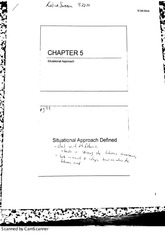 MGMT 4470 Leadership (Chapter 5 Situational approach)
