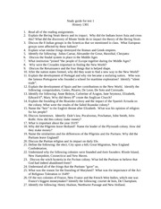 Study guide for test 1 2011