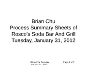 ACCT_3122_01_31_2012_Process_Summary_Sheets_Of_Rosco's_Soda_Bar_And_(Or_&)_Grill_Flowchart
