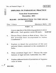 (www.entrance-exam.net)-IGNOU Diploma in Paralegal Practice - Introduction to the Legal System Sampl