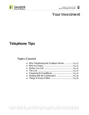 UBC Materials - Telephone Tips