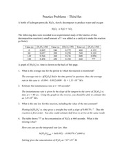 Practice Problems-Set III Key