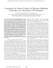 Congestion & Power Control of Wireless Multihop