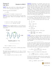 PHYSICS 21 Fall 2014 Homework 21 Solutions