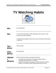WIC-NE-LessonPlans-PhysicalActivity-TVWatchingUHCSJV.doc