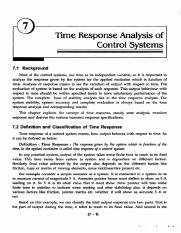 CH7 - Time Response Analysis of Control Systems