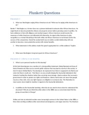 Plunkett Questions Updated