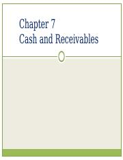CH. 7- Cash and receivables student 2016 R2 (1).ppt
