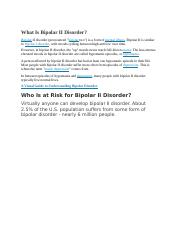 What Is Bipolar II Disorder.docx