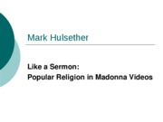 Mark Hulsether Madonna