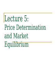 Lecture 5 - Price Determination.ppt