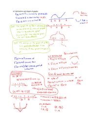 4.3 Derivatives and shapes of Graphs