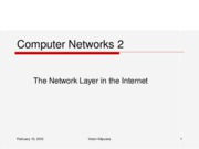 The Network Layer in the Internet2